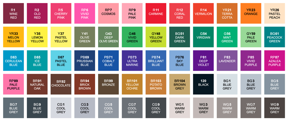 Shin-Han-Touch-Twin-60-Marker-Set-Color-Swatches-A