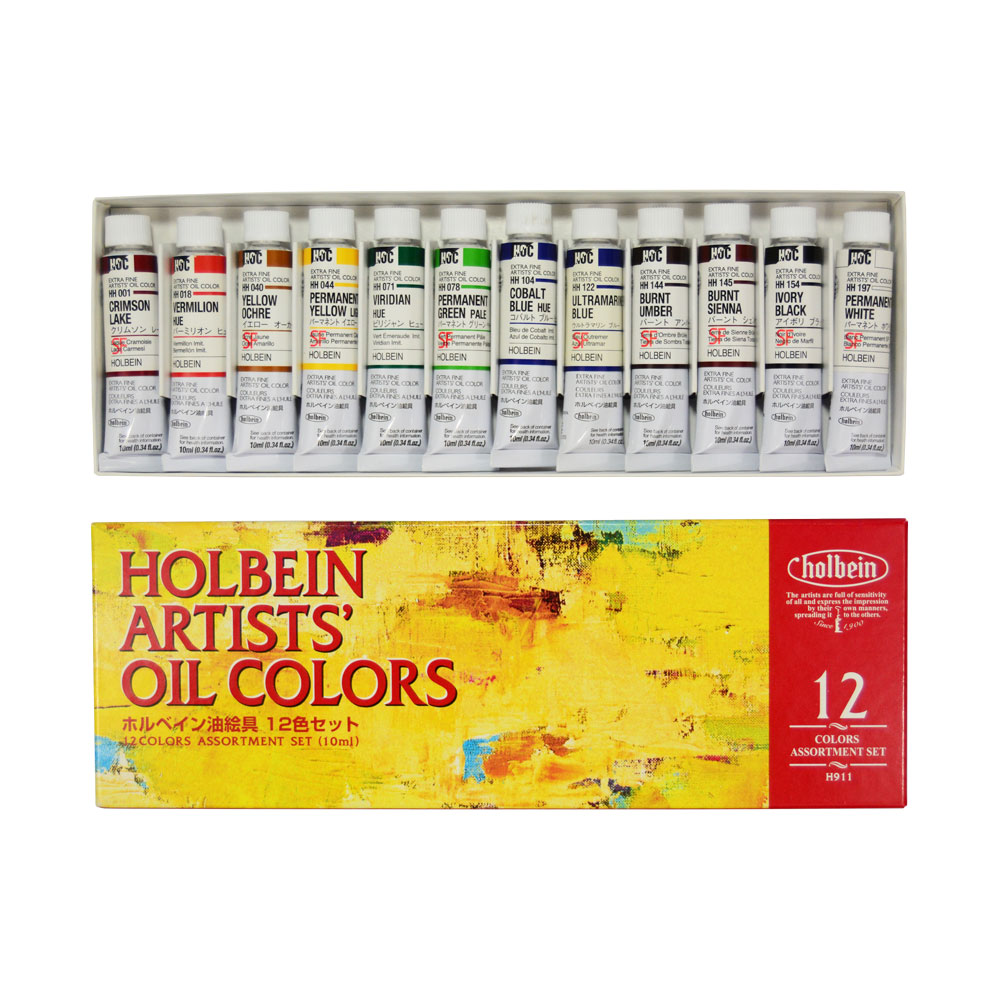 Holbein Artists' Oil Color 12 10ml Tube Set - ArtWhale.PH