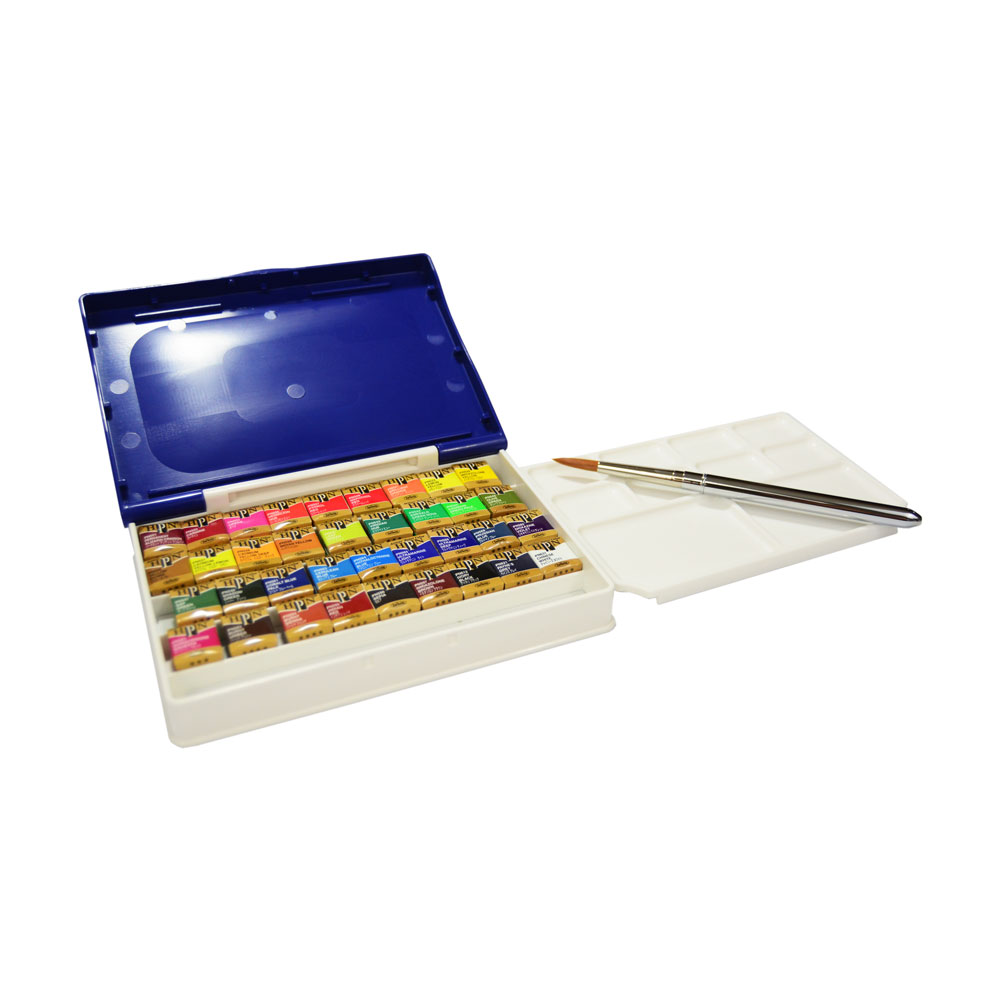 Holbein Artists Watercolor Half Pan Palm Box 36 Colors
