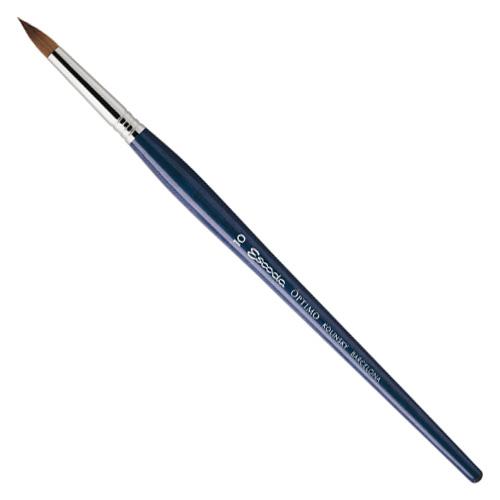 Escoda Optimo Kolinsky Sable Short Round Brush - Size 2/0
