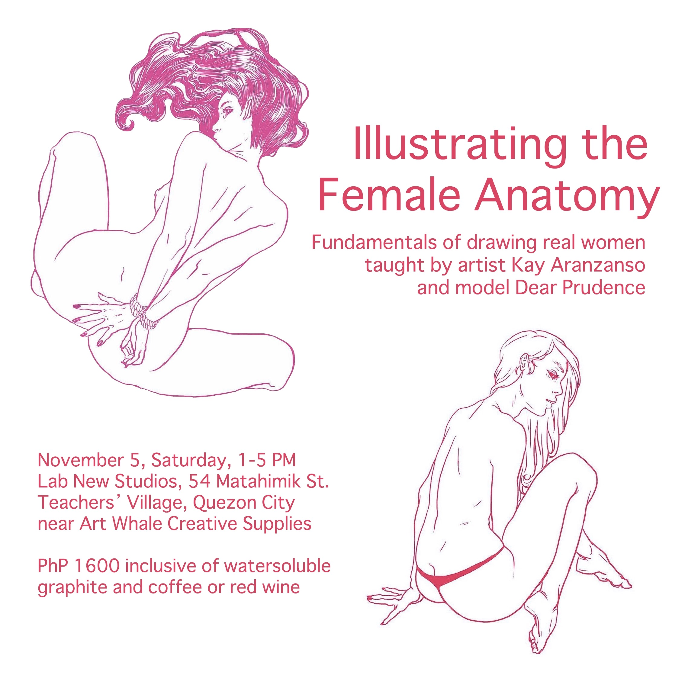 Illustrating the Female Anatomy - November 5, 2016 - ArtWhale.PH