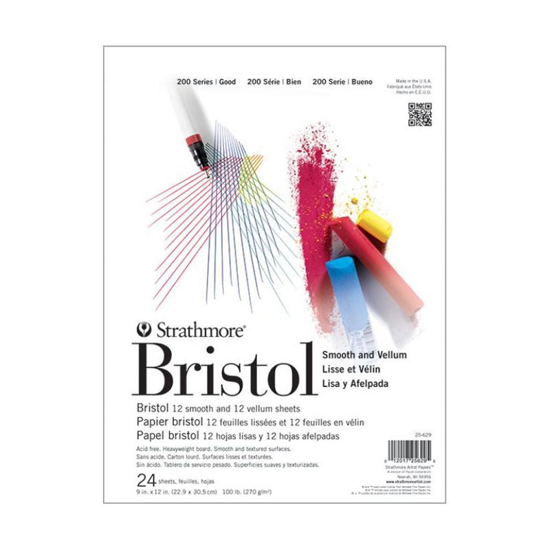 Strathmore 200 Series Bristol Pad - Smooth, Tape Bound 9