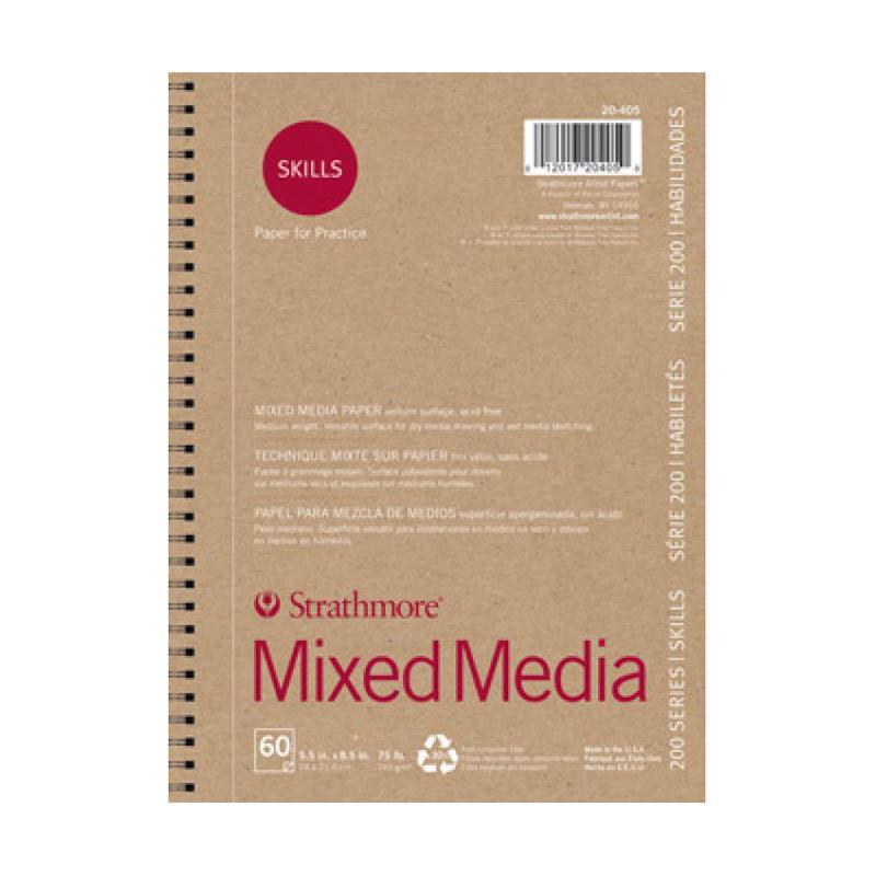 Strathmore 200 Series Skills Mixed Media Pad - Vellum Wire Bound 5.5