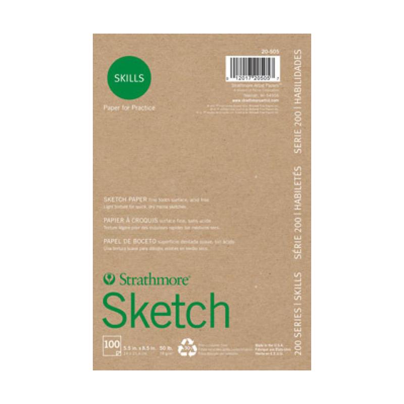 Strathmore 200 Series Skills Sketch Pad - Glue Bound 5.5
