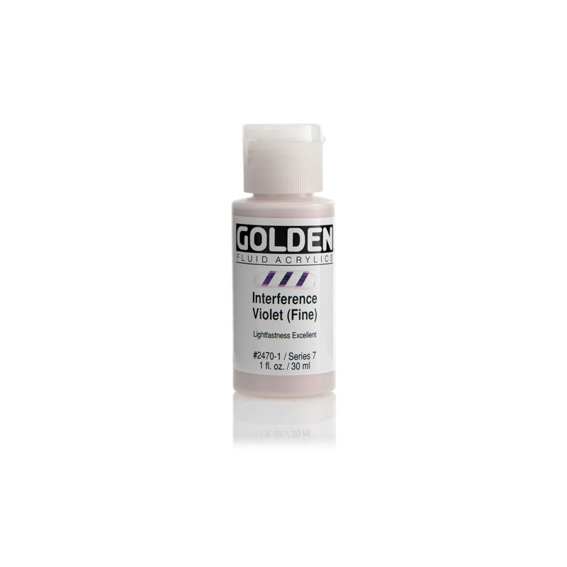 Golden Fluid Acrylic Interference Color 30ml Bottle - C.T. Interference Green-Blue #2484