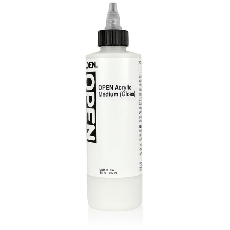Golden open acrylic gloss medium artwhale ph for Gloss medium for acrylic painting