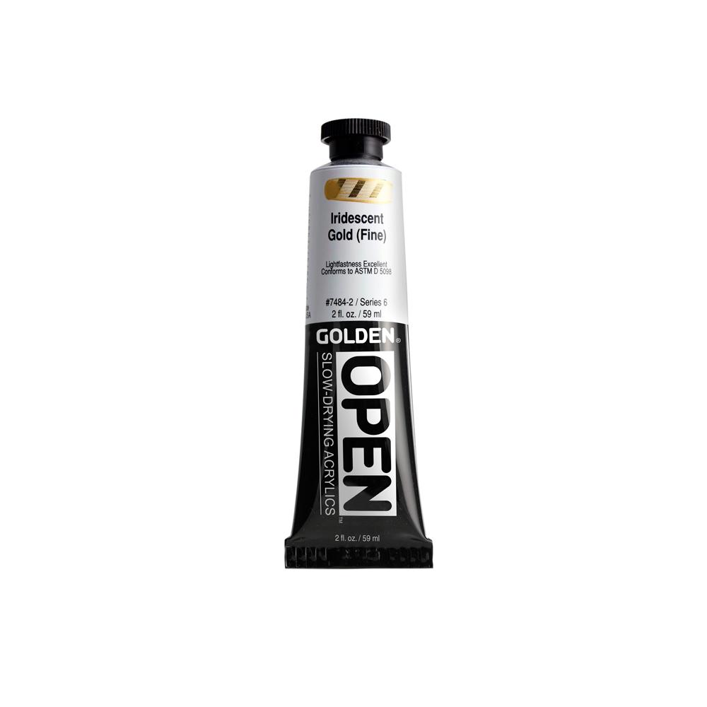 Golden OPEN Acrylic Iridescent Color 59ml Tube - Iridescent Silver (Fine) #7487