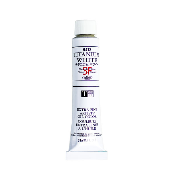 Holbein Artists' Oil Color 50ml Tube - White - Zinc White 405W
